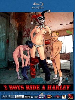 Adult Comics 2 Boys Ride A Harley (Batman) Porn Comic 01
