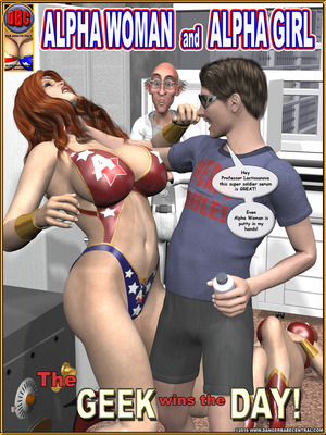 3D Porn Comics Alpha Woman- The Geek wins Day Porn Comic 01