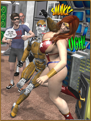 3D Porn Comics Alpha Woman- The Geek wins Day Porn Comic 09