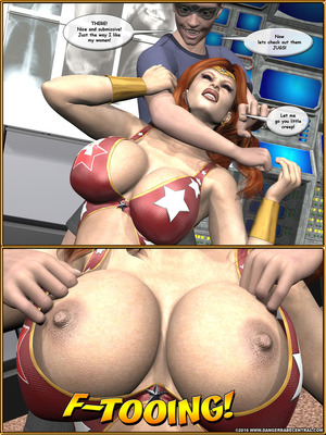 3D Porn Comics Alpha Woman- The Geek wins Day Porn Comic 22
