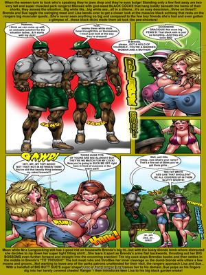 Interracial Comics Big Tits Brenda- Picnic in Park-Smudge Porn Comic 03