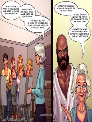 Interracial : BlacknWhite- Art Class- Bnw Porn Comic sex 02