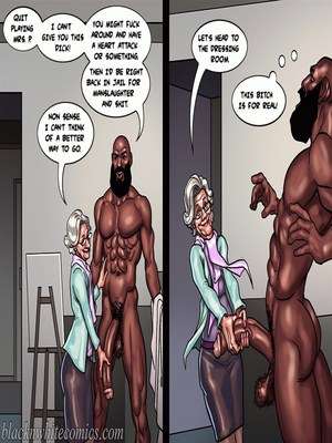 Interracial : BlacknWhite- Art Class- Bnw Porn Comic sex 103