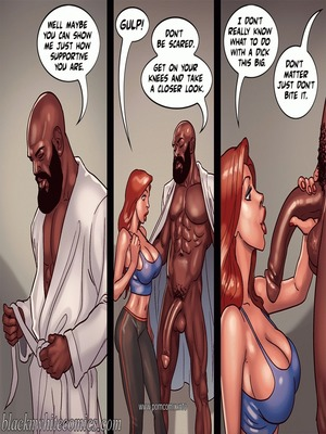 Interracial : BlacknWhite- Art Class- Bnw Porn Comic sex 27