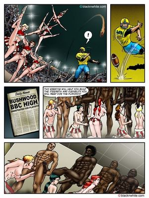 Interracial Comics BlacknWhite- BBC HIGH The Head cheerleader 3 Porn Comic 10