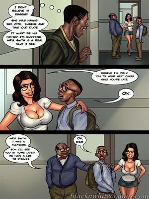 Interracial Comics BlacknWhite- Detention 2 Porn Comic 02