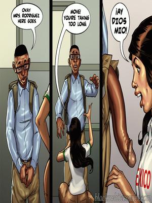 Interracial Comics BlacknWhite- Detention 2 Porn Comic 16