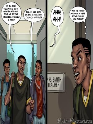 Interracial Comics BlacknWhite- Detention 2 Porn Comic 42