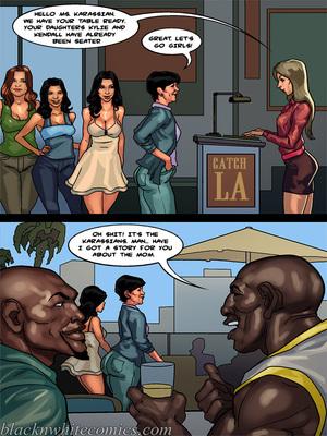 Interracial Comics BlacknWhite-The KarASSians the Next Generation Porn Comic 10