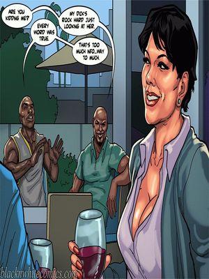 Interracial Comics BlacknWhite-The KarASSians the Next Generation Porn Comic 26
