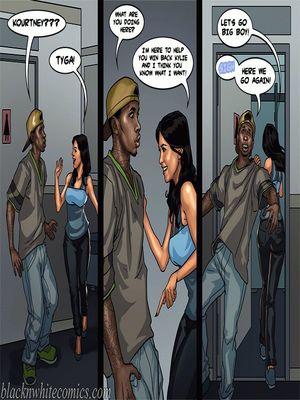 Interracial Comics BlacknWhite-The KarASSians the Next Generation Porn Comic 36