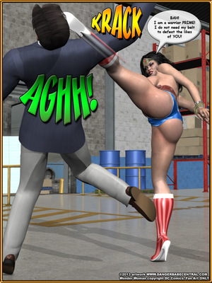 3D Porn Comics Bondage WW vs ArmDealers- Wonder Woman Porn Comic 18