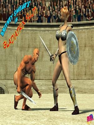 Porn Comics - 3D : Britney Smear's in Gladiatrix Slut Porn Comic