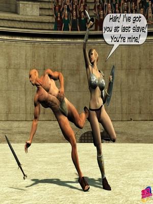 3D Porn Comics Britney Smear's in Gladiatrix Slut Porn Comic 04
