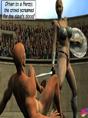 3D Porn Comics Britney Smear's in Gladiatrix Slut Porn Comic 05