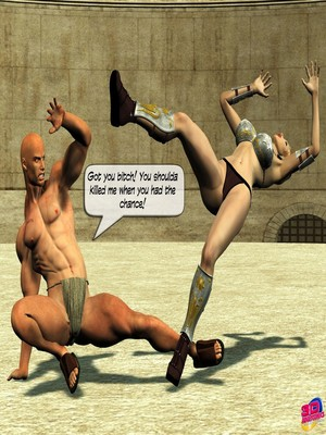 3D Porn Comics Britney Smear's in Gladiatrix Slut Porn Comic 07