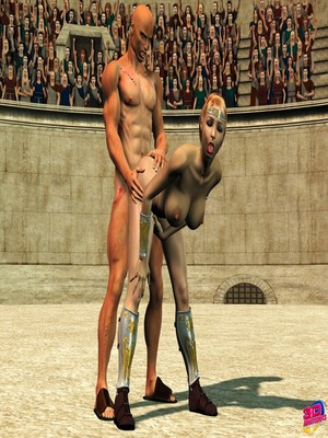3D Porn Comics Britney Smear's in Gladiatrix Slut Porn Comic 17