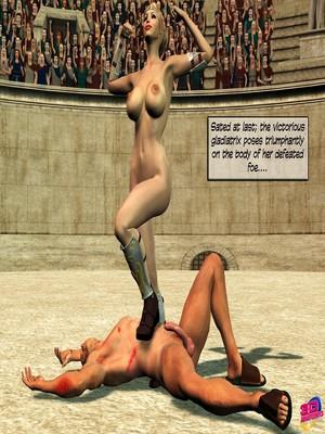 3D Porn Comics Britney Smear's in Gladiatrix Slut Porn Comic 24