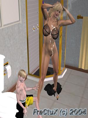 3D Porn Comics Fractux- Fun In The Bathroom Porn Comic 08