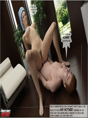 3D Porn Comics Fucking mom in bathroom- Instant Incest Porn Comic 46
