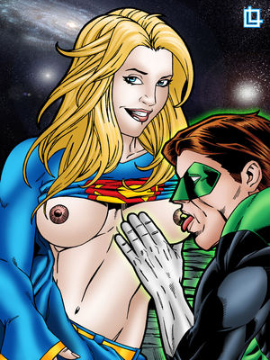 Porn Comics - Green Lantern and Supergirl Have a Cosmic Fuck free Porn Comic