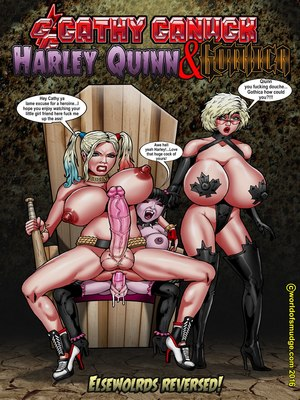 Interracial Comics Harley Quinn -Cathy Canuck- Smudge Porn Comic 01
