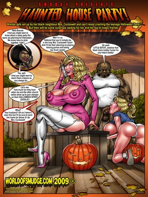 Interracial Comics Haunted House Party- Smudge Porn Comic 01
