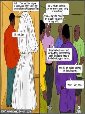 Interracial : Her Wedding Day- Interracial Porn Comic sex 02