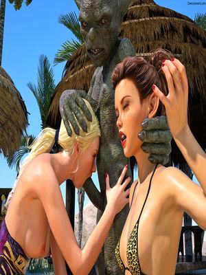 3D Porn Comics Hibbli3d- Beach Day Part 2 Porn Comic 08