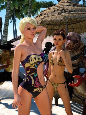 Porn Comics - Hibbli3d- Beach Day free Porn Comic