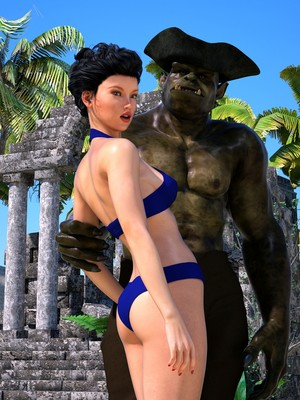 Hibbli3D- Sorceress Lori- Beach Day Part 3 free Porn Comic thumbnail 001