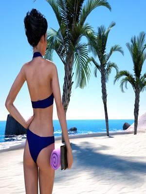 Hibbli3D- Sorceress Lori- Beach Day Part 3 free Porn Comic sex 02