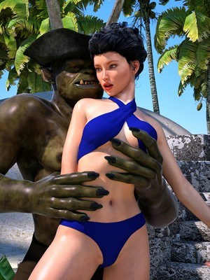 Hibbli3D- Sorceress Lori- Beach Day Part 3 free Porn Comic sex 11