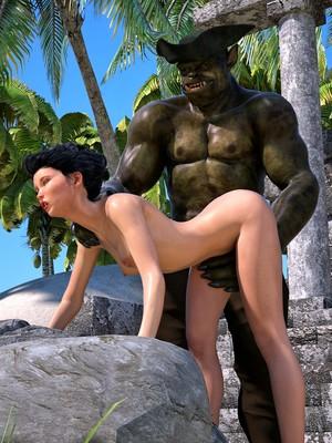 Hibbli3D- Sorceress Lori- Beach Day Part 3 free Porn Comic sex 15