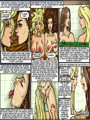 Interracial Comics Illustrated interracial- Flag Girls Porn Comic 121