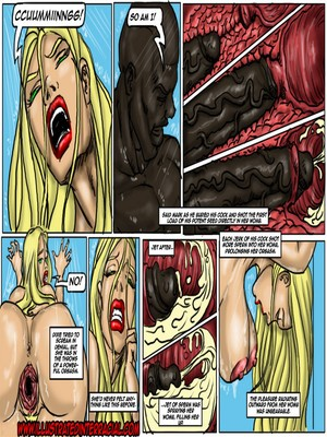 Interracial Comics Illustrated interracial- Flag Girls Porn Comic 46