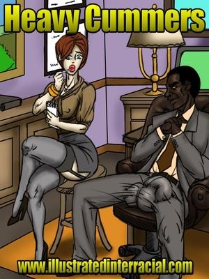 Porn Comics - Illustrated Interracial- Heavy Cummers free Porn Comic