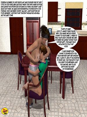 Mom and Son Pool Party 3 free Porn Comic sex 19