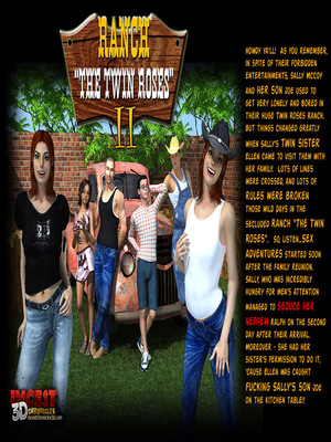 3D Porn Comics Incest3DChronicles- Ranch The Twin Roses. Part 2 Porn Comic 01