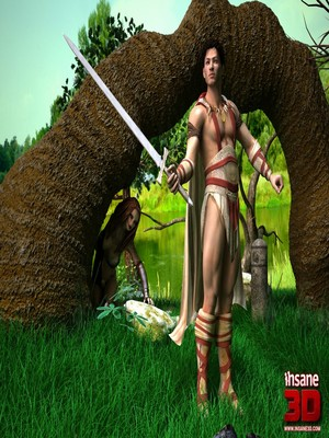 Porn Comics - 3D : Insane3D- Barbarian Love Porn Comic