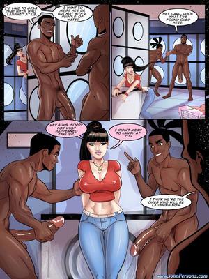 Interracial Comics John Persons- Luciana Fellini Laundry Porn Comic 04