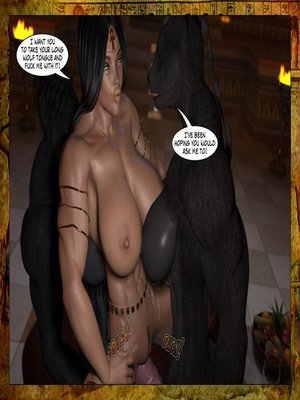 3D Porn Comics Joos3dart- Queen Farah- A Howl in the Night Porn Comic 28