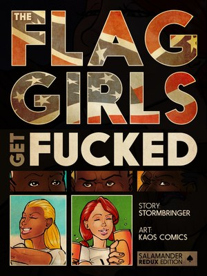 Interracial Comics Kaos- Flag Girls Get Fucked Porn Comic 01