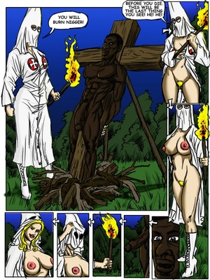 Interracial Comics Klan Roast- illustrated interracial Porn Comic 02