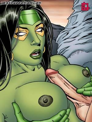 Leandro- Gamora Bounces On Star Lord's Hard Cock free Porn Comic