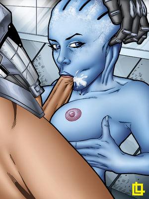 Leandro- Liara and Shepard free Porn Comic