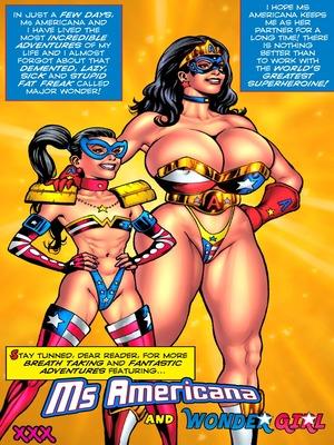 Ms Americana & Wonder Girl Dildo Fever Anal free Porn Comic
