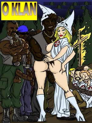 Porn Comics - Interracial : O Klan Fuck- illustrated interracial Porn Comic