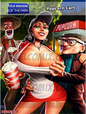 Porn Comics - Animated Incest – Old Geezers of Parks- Popcorn Cart Porn Comic