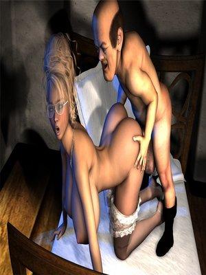 3D Porn Comics Pixelme- Retro Blonde Porn Comic 17